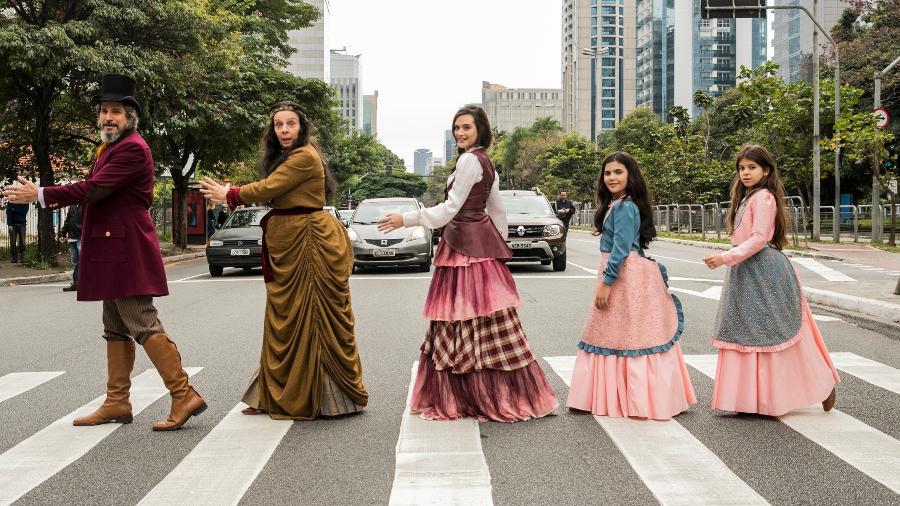 A família Sabino Machado desbrava as ruas de São Paulo - Globo/João Miguel Júnior