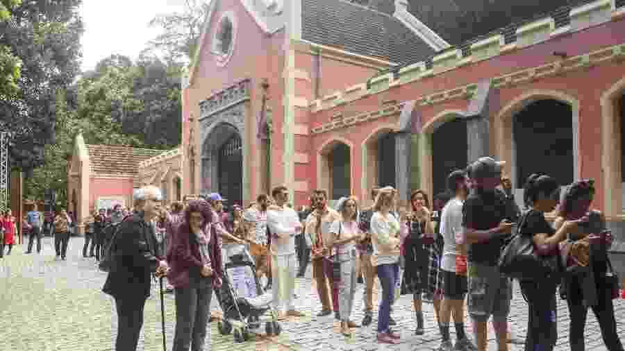 Abertura da exposição Queermuseu, no Parque Lage, zona sul do Rio , no último dia 18 - Marcelo Fonseca/Folhapress