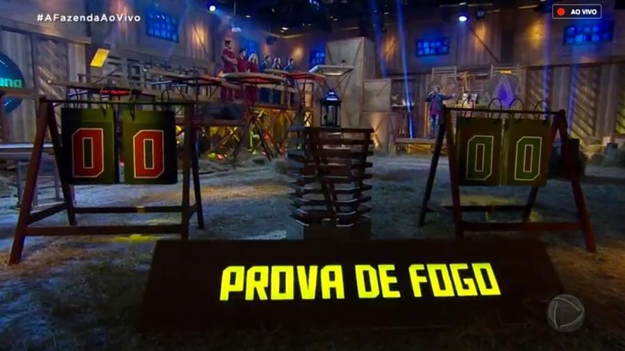 """Cenário da primeira prova de fogo de """"A Fazenda 10"""" - Reprodução/RecordTV"""