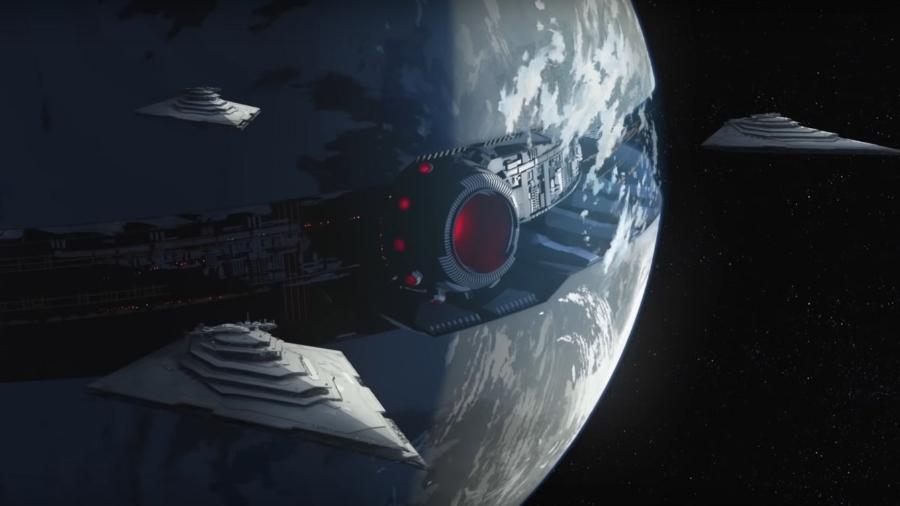 """Cena de animação baseada em """"Star Wars"""" - Reprodução"""