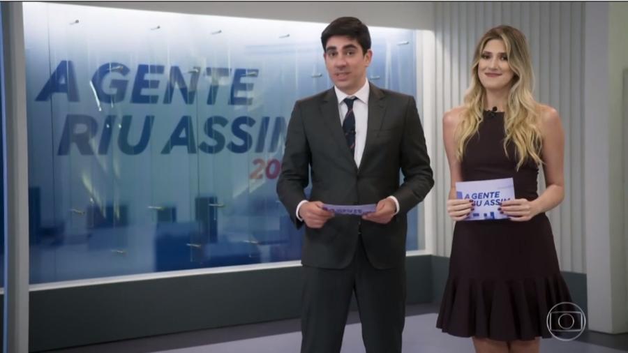 Dani Calabresa e Marcelo Adnet fazem piada com a própria separação - Reprodução/TV Globo