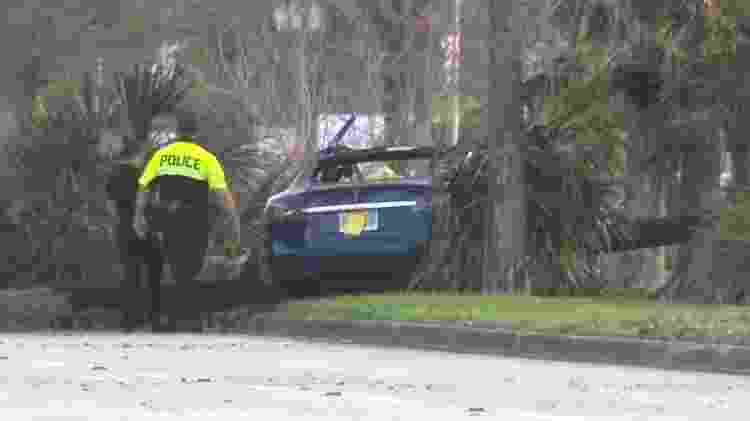 Acidente com Tesla Model S matou motorista na Flórida (EUA) em fevereiro de 2019 - Reprodução