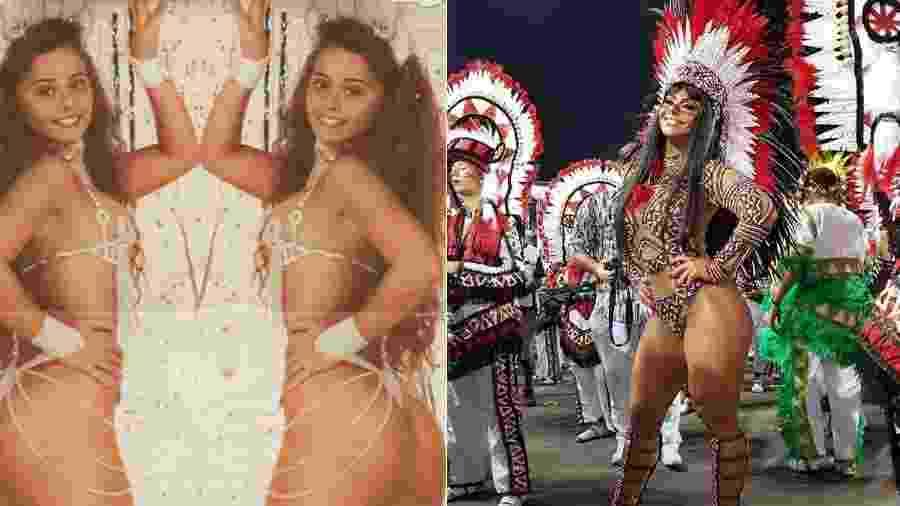 Viviane Araújo, aos 20 anos, e agora, com 43 - Reprodução/Instagram
