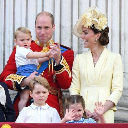 Príncipe William, Kate Middleton e os filhos durante o Trooping the Colour 2019 - Karwai Tang/WireImage