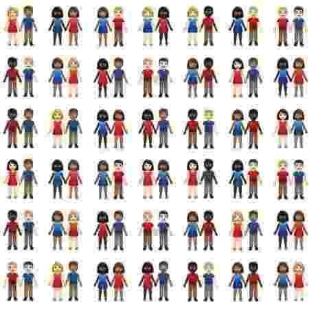 Emoji casais inter-raciais - Reprodução/Tinder Swipe Life - Reprodução/Tinder Swipe Life