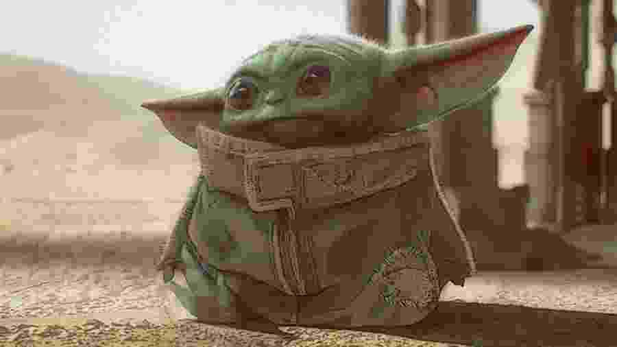 O personagem apelidado de Baby Yoda, de Guerra nas Estrelas (Star Wars) - Reprodução/Twitter
