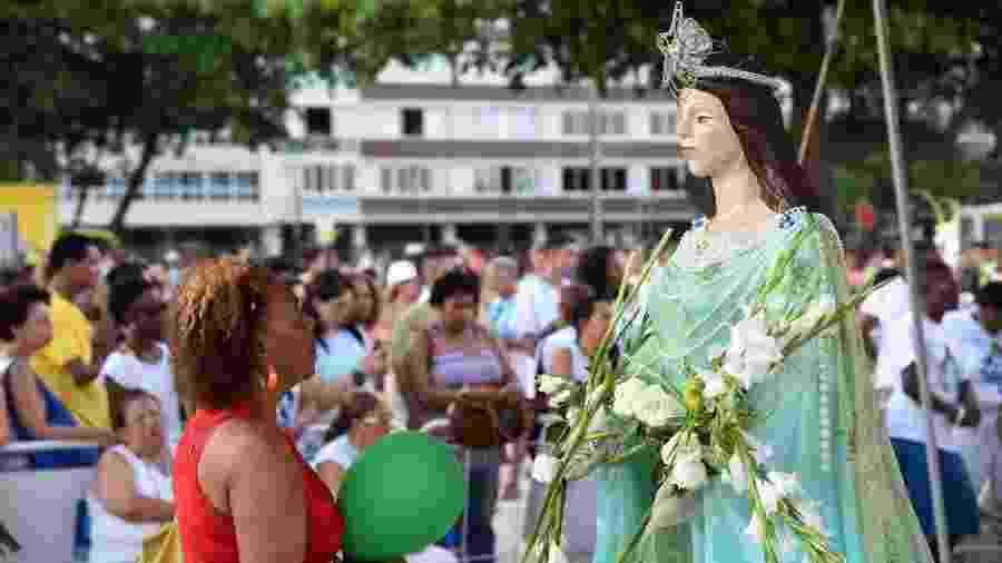 Festa de Iemanjá promovida pelo Mercadão de Madureira, 29 de dezembro de 2016, no Rio de Janeiro - Alexandre Macireira
