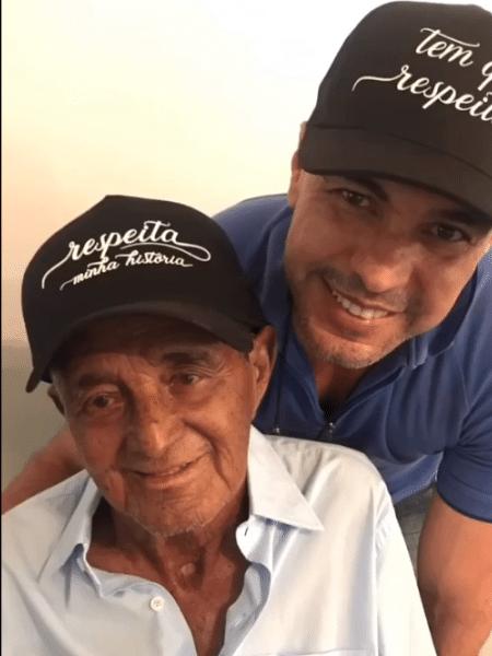 Zezé Di Camargo com o pai, Francisco - Reprodução/Instagram