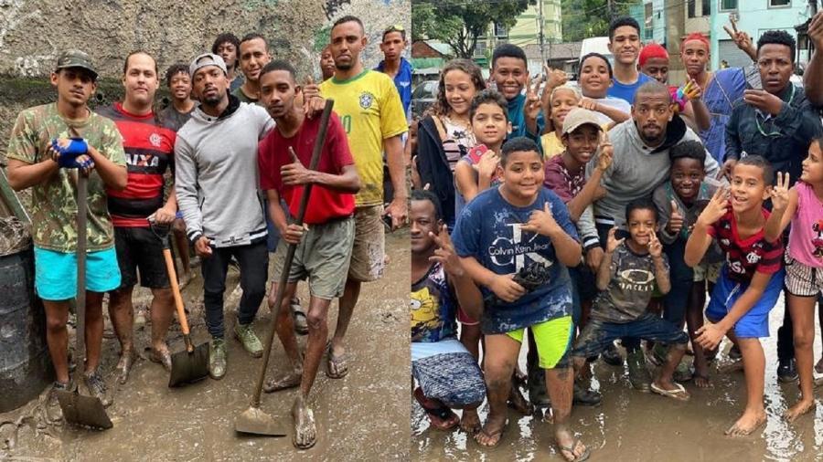 Nego do Borel visita a comunidade de Realengo após chuvas no Rio - Reprodução/Instagram