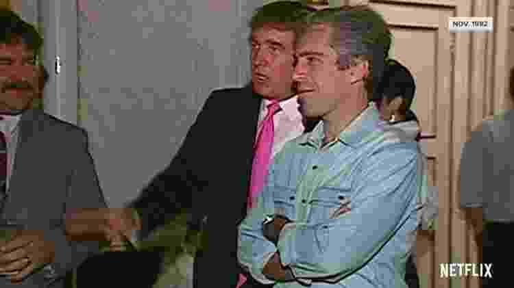 Donald Trump e Jeffrey Epstein - Reprodução/Netflix - Reprodução/Netflix