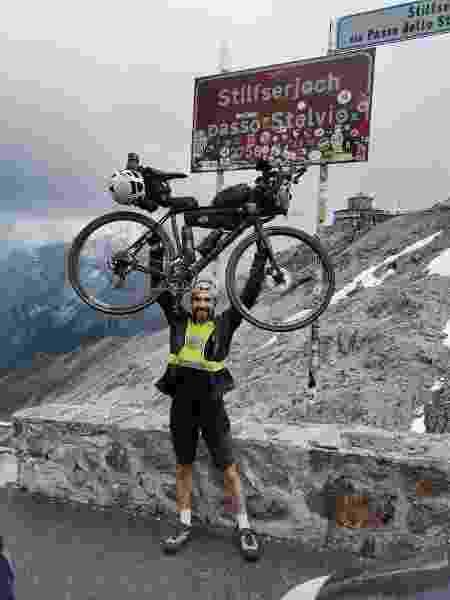 Marcos Bueno nos Alpes - Arquivo pessoal - Arquivo pessoal