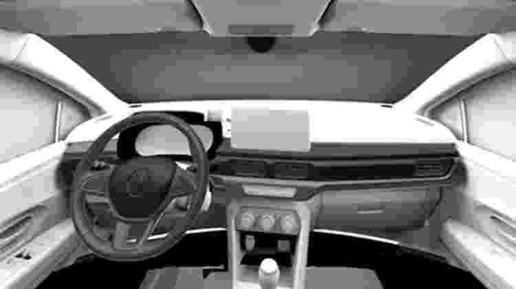 Renault Logan 2022 2 - Reprodução/Cochespias.es - Reprodução/Cochespias.es