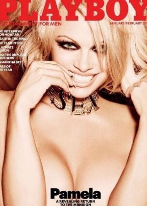 """Pamela Anderson estampa a última capa da """"Playboy"""" que terá nudez - Divulgação/Playboy"""