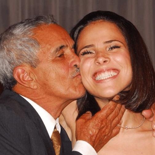Wanessa Camargo publica foto antiga sendo beijada pelo avô Francisco