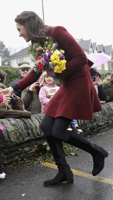 Kate Middleton já apareceu com a bota em duas ocasiões - Chris Jackson/Reuters