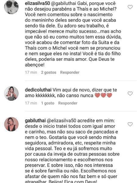 Gabi Luthai detona Thais Fersoza  - Reprodução/Instagram - Reprodução/Instagram