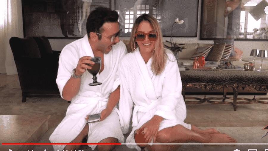 Matheus Mazzafera e Ticiane Pinheiro - Reprodução/YouTube