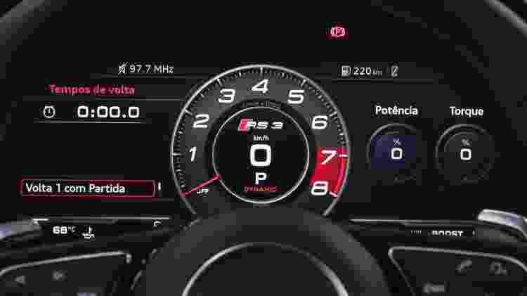 Audi RS 3 Sedan cluster - Divulgação - Divulgação