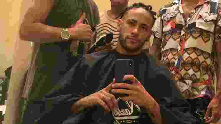 Neymar mostra o cabelo novo nas redes - Reprodução/Instagram - Reprodução/Instagram