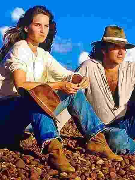 """Ingra Lyberato foi protagonista da novela """"Ana Raio e Zé Trovão"""", sucesso da extinta TV Manchete (1990) ao lado de Almir Sater - Divulgação/TV Manchete - Divulgação/TV Manchete"""