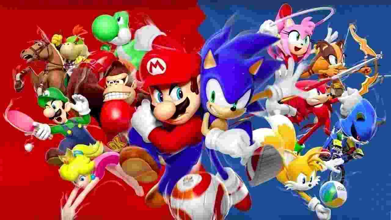 Mario e Sonic - Reprodução