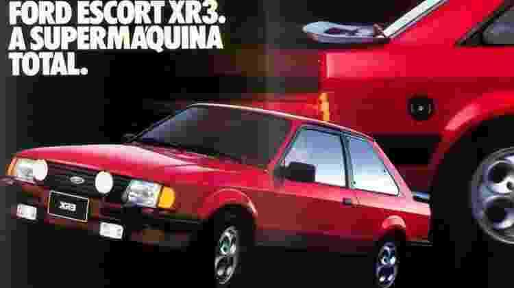 Escort XR3 foi um dos sonhos de uma geração inteira de brasileiros - Divulgação