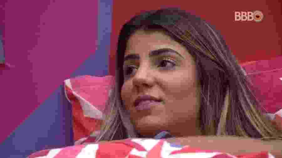 Hariany fala sobre festa Televisão - Reprodução/Globoplay