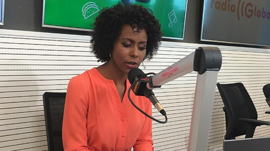 Maju Coutinho comanda programa na Rádio Globo, em São Paulo - Reprodução/Rádio Globo