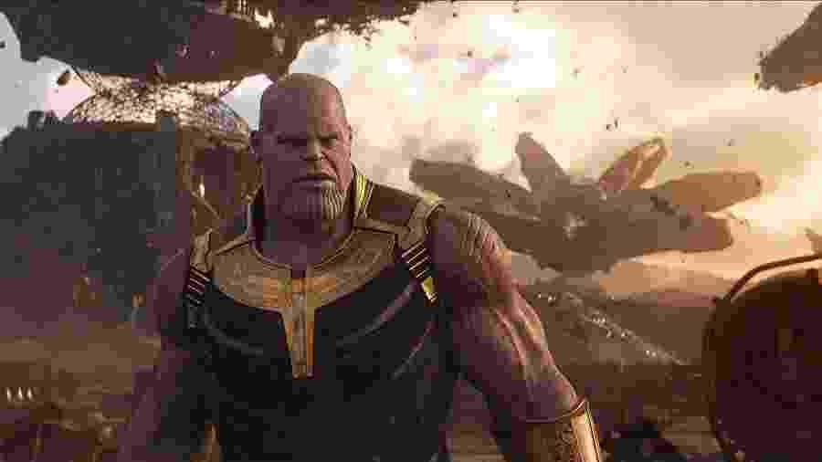 """Thanos (Josh Brolin) em """"Vingadores: Guerra Infinita"""" - Divulgação"""