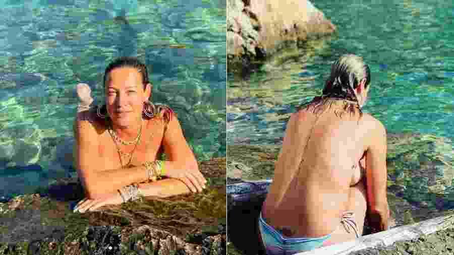Luana Piovani toma banho na praia de Ibiza: viriginiana é barraqueira? - Reprodução/Instagram