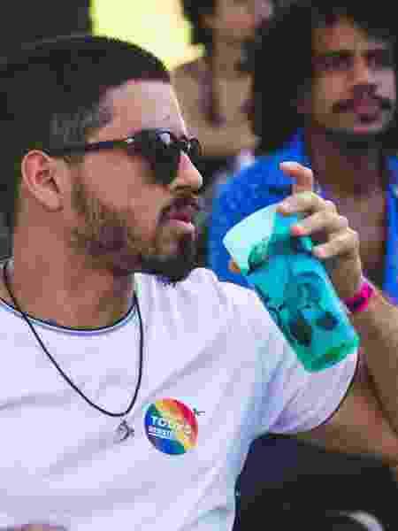 Eco copos são usados durante o festival Coquetel Molotov  - Divulgação/Bieco Garcia