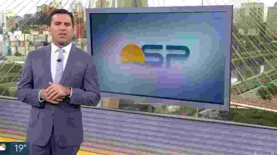 """Rodrigo Bocardi, âncora do """"Bom Dia, São Paulo"""", da Globo - Reprodução/TV Globo"""