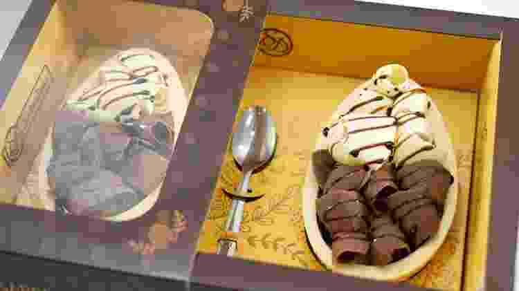 Ovo Trufado preto e branco no chocolate ao leite - Divulgação - Divulgação