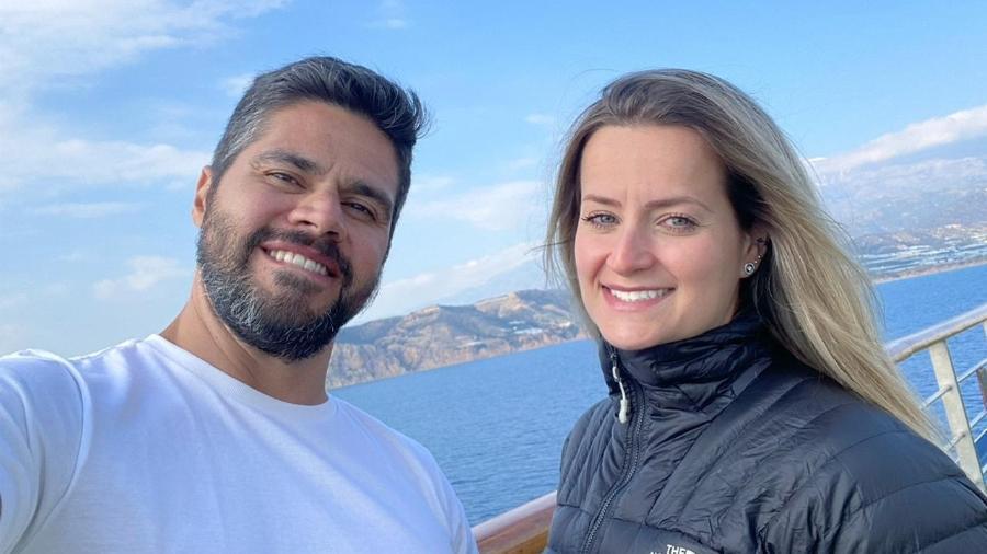 Lígia e Thiego, brasileiros que foram contaminados em navio de cruzeiro na Itália - Arquivo pessoal