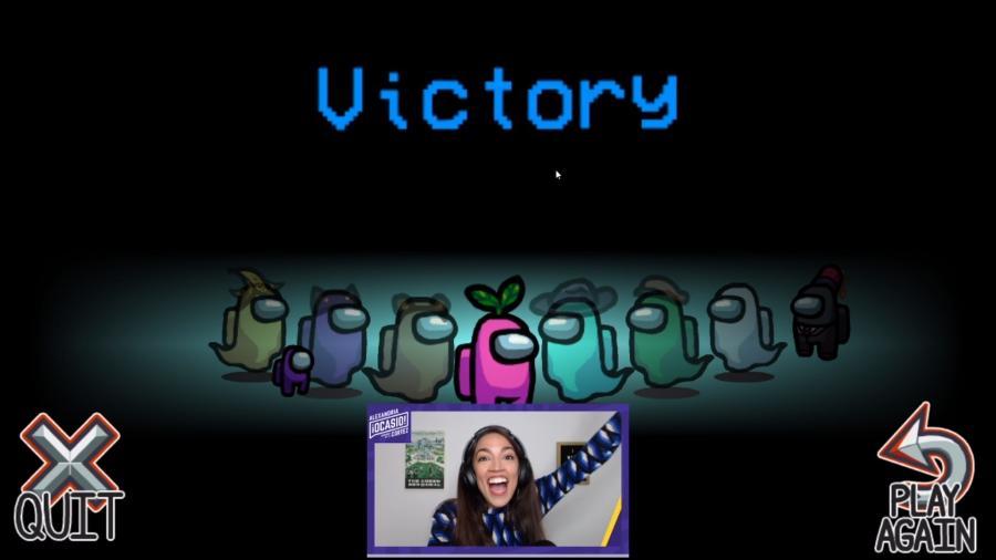 A deputada norte-americana Alexandria Ocasio-Cortez jogando Among Us - Reprodução/Twitch