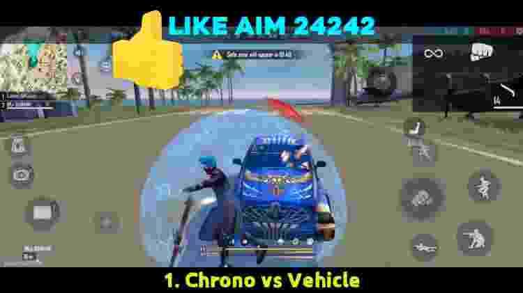 Free Fire O campo de força para carros - Reprodução/Youtube/BrOkEn JoYsTiCk - Reprodução/Youtube/BrOkEn JoYsTiCk