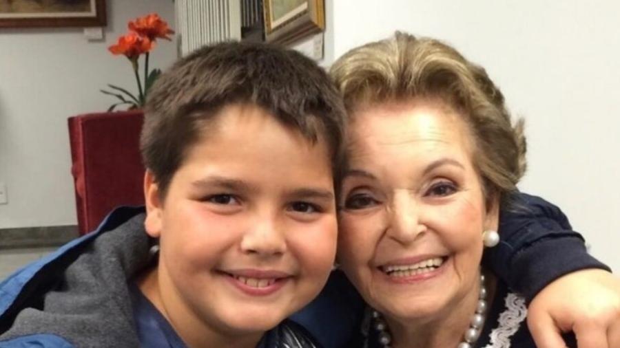 João Guilherme, filho do Faustão, presta homenagem à avó - Reprodução/Instagram