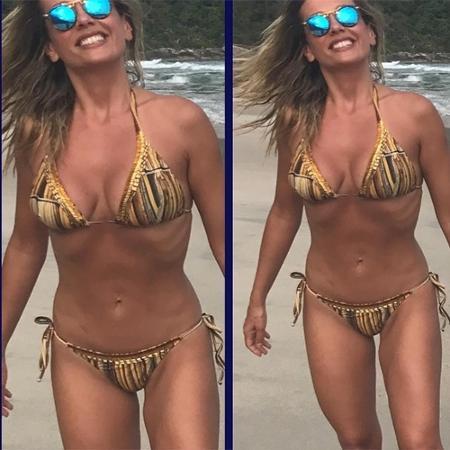 De biquíni, Luisa Mell exibe corpo sarado  - Reprodução/Instagram/luisamell Following
