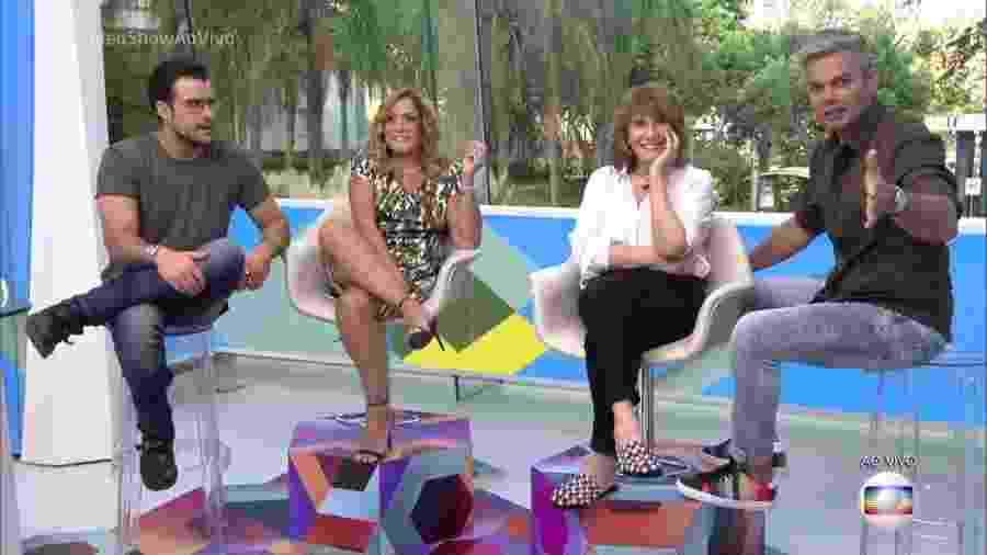 """Susana Vieira e Renata Sorrah falam sobre """"Senhora do Destino"""" em entrevista a Joaquim Lopes e Otaviano Costa no """"Vídeo Show"""" - Reprodução/Globo"""