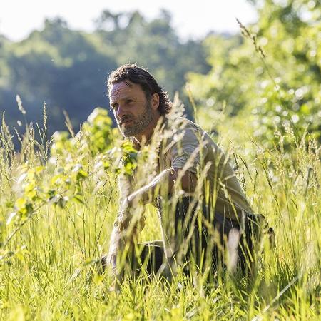 """O ator Andrew Lincoln em cena de """"The Walking Dead"""" - Reprodução"""