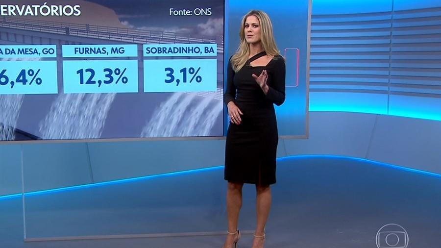 """Jacqueline Brazil estreia à frente da metereologia do """"Jornal Nacional"""" - Reprodução/TV Globo"""