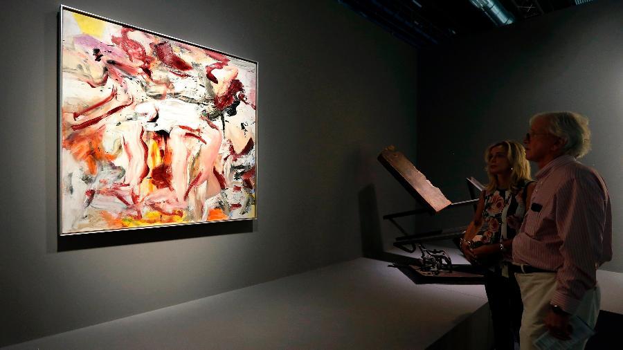 Imagem da feira Art Basel, em Miami - AFP