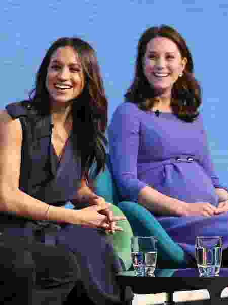 Meghan Markle e Kate Middleton no Royal Foundation Forum - Getty Images - Getty Images