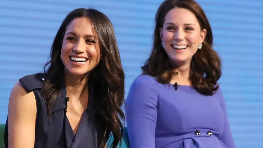 Meghan Markle e Kate Middleton no Royal Foundation Forum - Getty Images