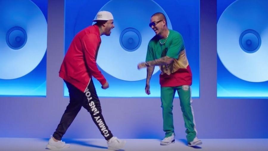 """Cena do videoclipe de """"X"""", de Nicky Jam e J. Balvin  - Reprodução"""