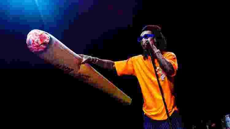 Wiz Khalifa fumou maconha e distribuiu baseados gigantes no Lollapalooza - Mariana Pekin/UOL - Mariana Pekin/UOL