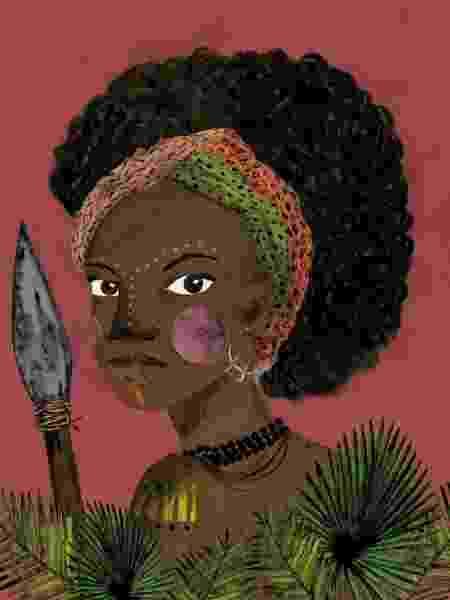 Ilustração da guerreira Dandara - @Lole