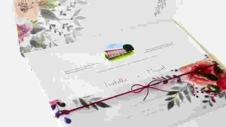 Convite de casamento - Divulgação - Divulgação