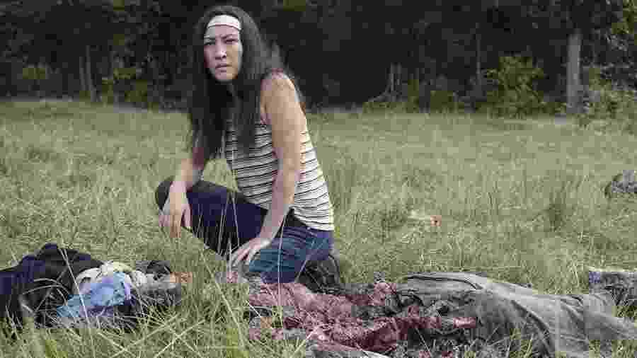 """Eleanor Matsuura como Yumiko em """"The Walking Dead"""" - Divulgação/AMC"""