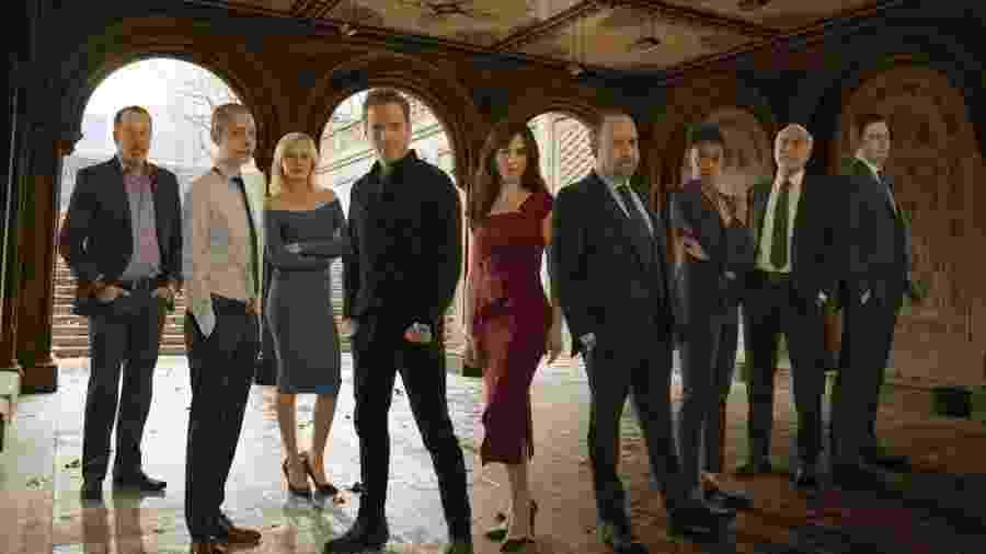 """Elenco da série """"Billions"""", que estreou em 2016 no Showtime e, no Brasil, é exibida pela Netflix - Divulgação"""